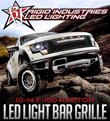 Rigid industries led grill 2010 2014 f 150 raptor with rds light aloadofball Image collections