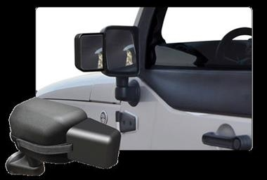 Rampage Products Side Mirror Extension 2007 2015 Jeep