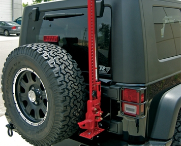 Rampage Hi Lift Jack Mounting Kit 2007 2015 Jeep Wrangler