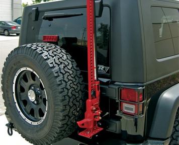 Rampage Hi Lift Jack Mounting Kit 2007 2015 Jeep Wrangler
