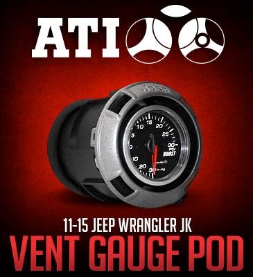 2011-2015 Jeep Wrangler (JK) ATI Vent Gauge Pod ATI-VPOD-74-15