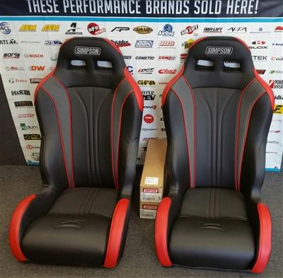 Simpson Vortex Pair Seat Black Red For 14 17 Polaris